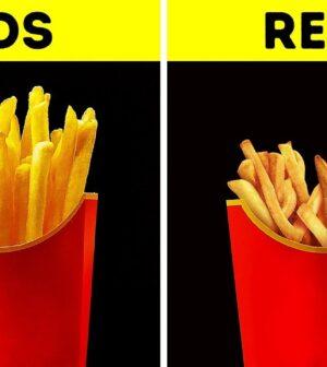 Mancarea in reclame vs mancarea in realitate